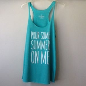 Tops - Graphic Tank Top - Beach Coverup Top